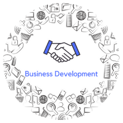Business developement button - circle