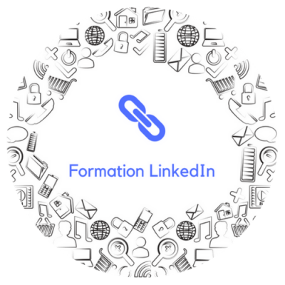 Formation LinkedIn button - circle