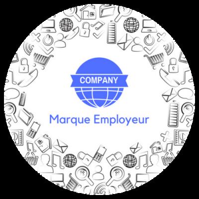 Marque employeur button - circle