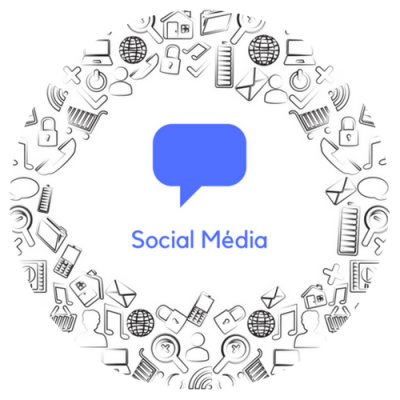 Social Media button - circle
